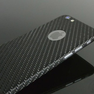 Carbon Cover iPhone 6S mit Logo Fenster