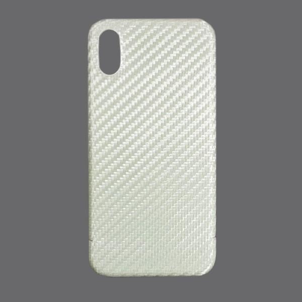 Echt Carbon Cover Apple iPhone X Perlmutt Weiss