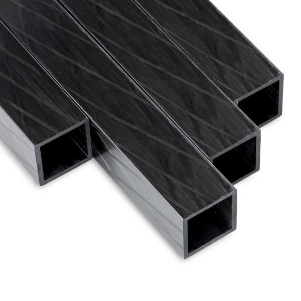 Carbon Vierkant Rohr fasergekreuzte Lagen und Pultrusion 30x30mm