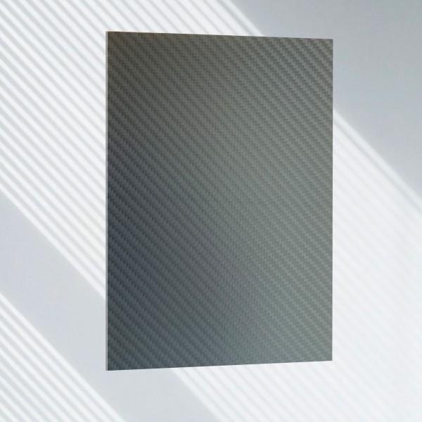 Carbon Platte Matt mit Schutzfolie 0,5 mm