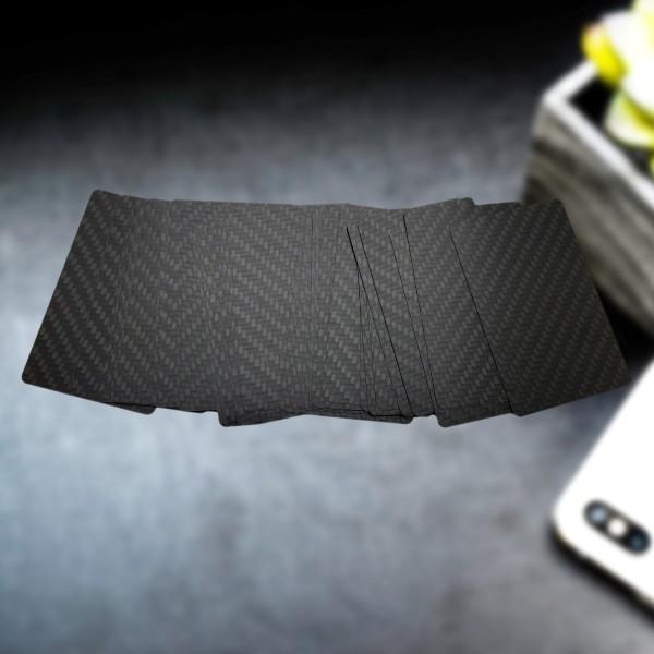 Carbon Visitenkarten unbedruckt seidenmatt echtes Carbon Material