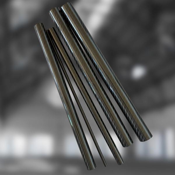 CFK Carbon Rohr Prepreg Wickelverfahren außendruckstabil Köper Optik Hochglanz