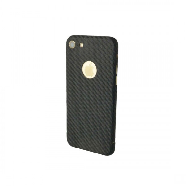 Echt Carbon Cover Apple iPhone 8 mit Logo Fenster