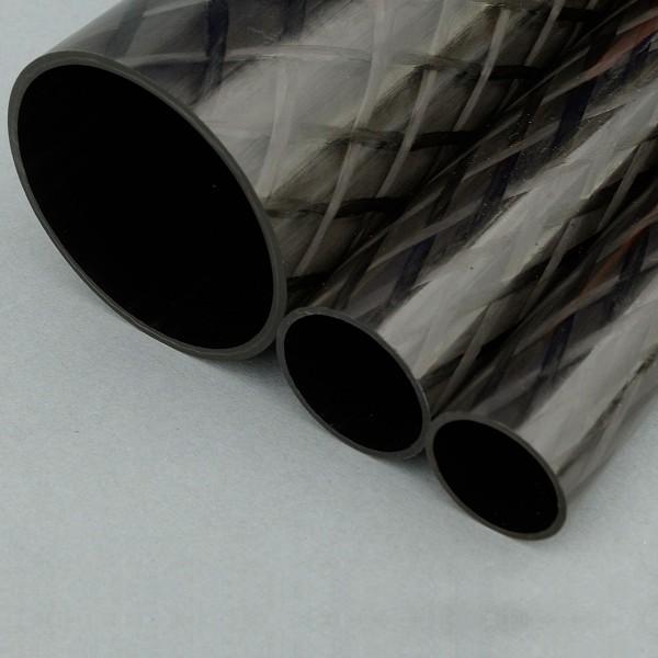 Carbonrohr torsionsstabil mehrschichtiger Faseraufbau