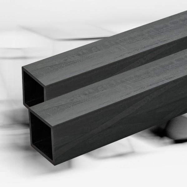 Carbon Vierkantrohr fasergekreuzte Lagen und Pultrusion 30x30mm