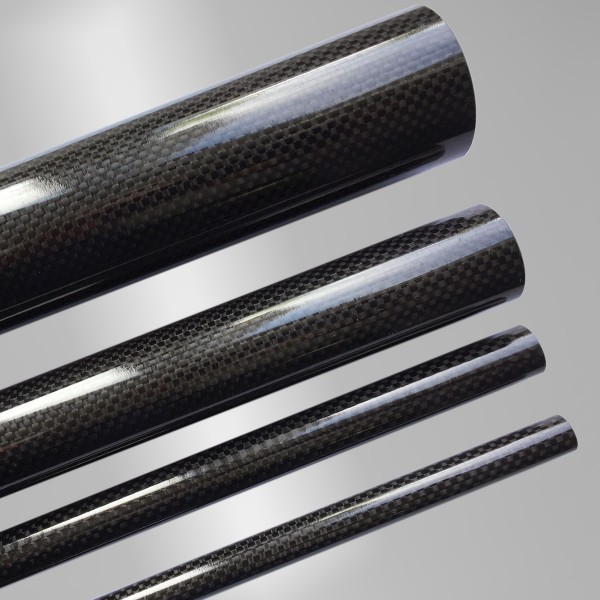 CFK Carbon Rohr Prepreg Wickelverfahren außendruckstabil Leinwand Optik Hochglanz