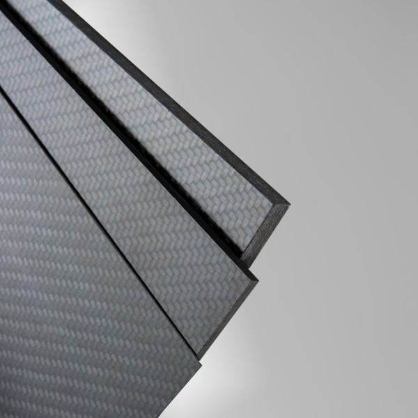 Carbon Platte CFK Platte seidenmatt beidseitig Gewebeprepreg Epoxyharz