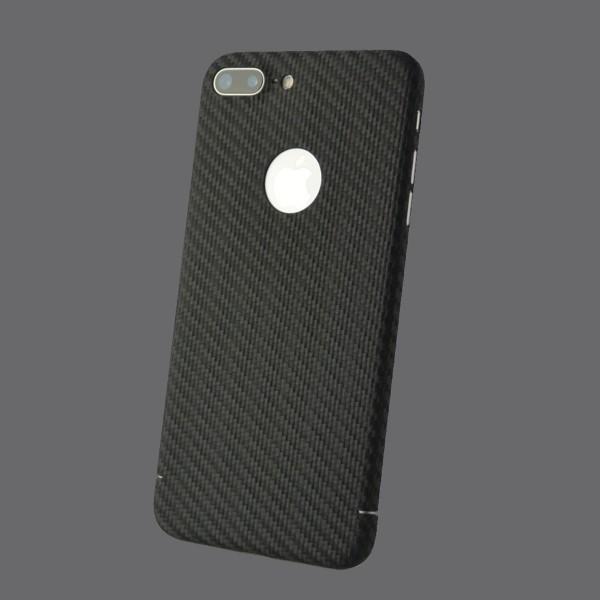 Echt Carbon Cover Apple iPhone 8 Plus mit Logo Fenster