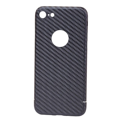 Carbon Cover iPhone 7 mit Logo Fenster